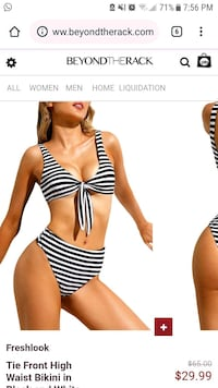 Brand new high waisted 2 piece swimsuiy Mississauga, L5M 3Z1