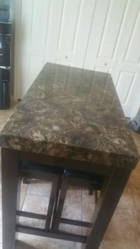 brown and black marble top table Land O' Lakes, 34638