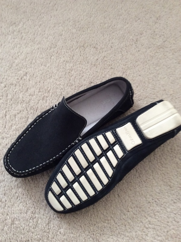 5220a982480 Used pair of black suede Calvin Klein loafers for sale in White Plains
