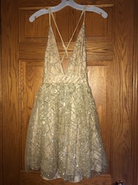 Gold formal dress from Honey size small brand new