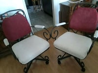 4 white and black rolling chairs Sun City West, 85375