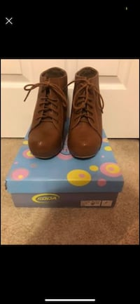 Brown booties size 11