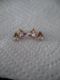 silver-colored diamond stud earrings Washington, 20019