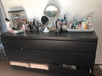 black wooden dresser with mirror Montréal, H1T 1E6