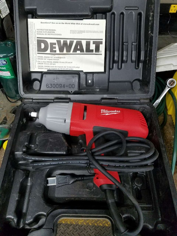 Used Red Milwaukee Corded Impact Driver For In Charter Township Of Clinton Letgo