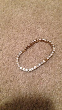 encrusted diamond and gold-colored bracelet Cary, 27519