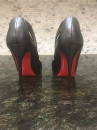 Christian LouBoutin black shoes 7.5-8.00 they cost me $1150.00 808 mi