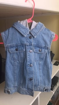blue denim button-up vest Gainesville, 20155