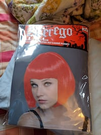 girl's red wig with pack London