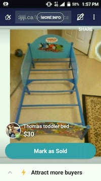 Thomas the train toddler bed  London, N5W