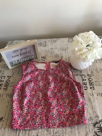 Women's pink and white floral sleeveless dress Calgary, T2N 3Y7
