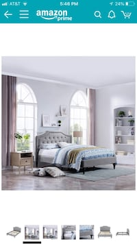 Brand new tufted queen size bed Malden, 02148