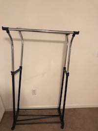 black and gray metal clothes rack Odenton, 21113
