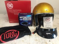 gold half faced motorcycle helmet South Brunswick, 08810