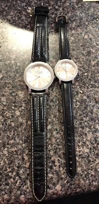 Two round silver-colored analog watches his and he Richmond, V7C 1G9