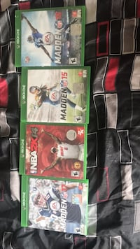 four Xbox One game cases Temple Hills, 20748