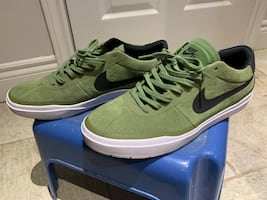 Nike SB Shoes green suede