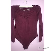 women's maroon long-sleeved dress Laurel, 20724