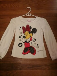Girls 7/8 Mini T shirt with sequins and ruffles cuff! Worn Once!
