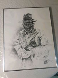 """Art 1979 """"Old man and his dog"""" Bay Minette, 36507"""