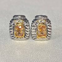 Sterling Silver Citrine Earrings Ashburn