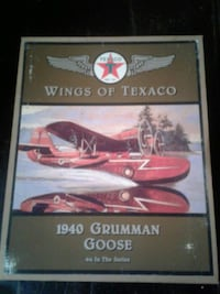Texaco collectable Grumman goose metal coin bank
