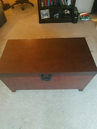 rectangular brown wooden coffee table and storage Manorville, 11949