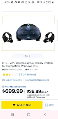 Vive Cosmo VR for Gamers Chalmette, 70043