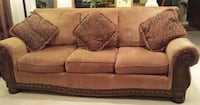 3 seat sofa with wood accents Jamesburg, 08831