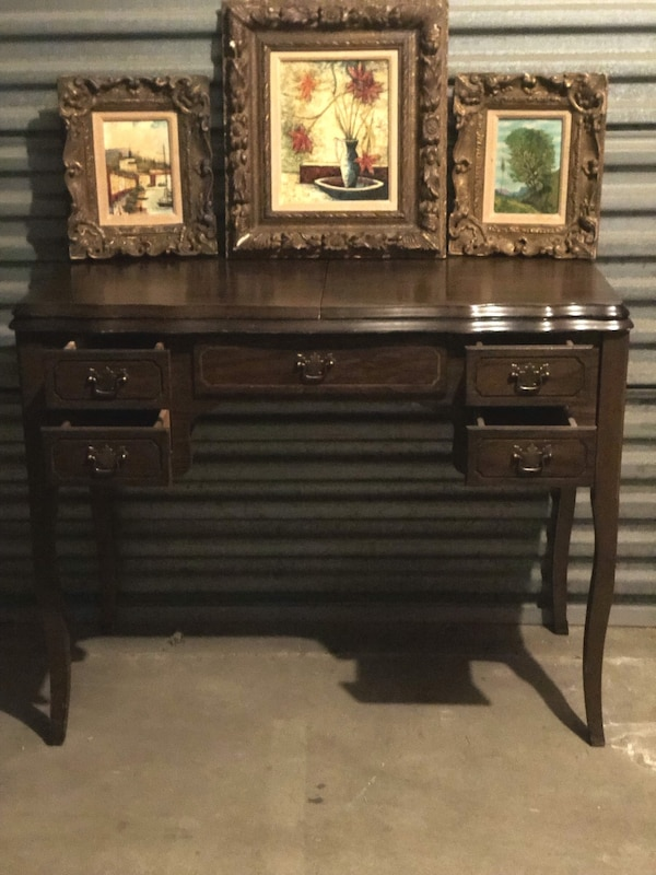 Used Wwii Era Antique Sewing Cabinet W Sewing Machine For Sale In