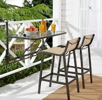 Crowley Park 3-Piece Outdoor Bar Set with Fold-Down Table Goshen, 46517