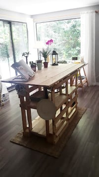 kitchen island from wood pallets Sooke