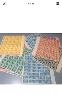 19 vintage us stamp sheets from the 1940's 3 cent at 50 mint stamps ea Beltsville, 20705