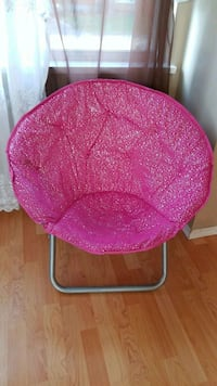 pink and black moon chair