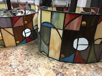 Tiffany stained glass light fixtures 150 for both