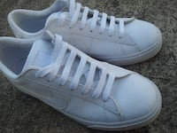 $50. NIKE SWEET CLASSIC BRS Low White Leather Athletic Sneakers Shoes Mens Size 9.5 Guttenberg