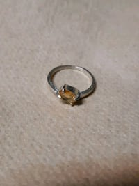 Silver ring with yellow sapphire  Vancouver, V5M 2Z1