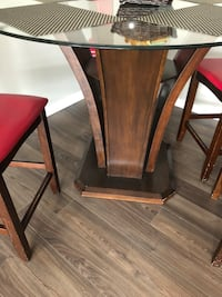 brown wooden table with chairs Calgary, T2X 0Y9