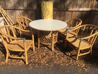 Rattan Table and chair Largo, 33771