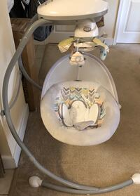Baby's white and gray cradle and swing Bethesda, 20816