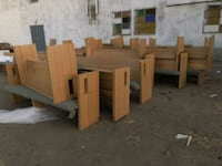 brown wooden table with chairs Bakersfield, 93301