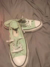 Mint Converse All Star low-top sneakers