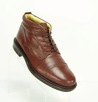 STAFFORD Men's Size 10.5 M Brown Leather Ankle Chukka Boots Shoes Made in ITALY 2241 mi