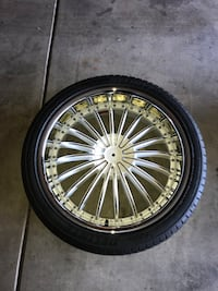 """Brand new 22"""" rim and tire (ONE RIM ONE TIRE) $125 Indianapolis, 46219"""