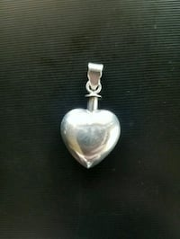 Sale! Only $10! Sterling silver heart pendant Redding