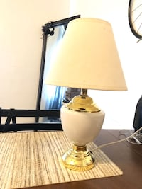 white and brass table lamp American Canyon, 94503