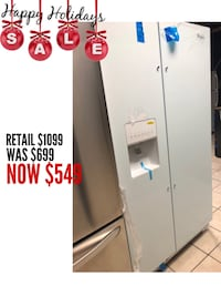 """Brand New 36"""" Whirlpool Side by Side Refrigerator (Scratch and Dent)  Elkridge, 21075"""