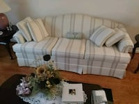 white and gray plaid fabric sofa Hollins, 24019