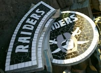 Raiders concrete patio table Bloomington, 92316