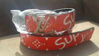 red and white leather belt Winnipeg, R3K 2G6